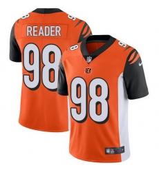 Nike Bengals 98 D J  Reader Orange Alternate Men Stitched NFL Vapor Untouchable Limited Jersey