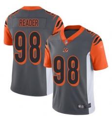 Nike Bengals 98 D J  Reader Silver Men Stitched NFL Limited Inverted Legend Jersey