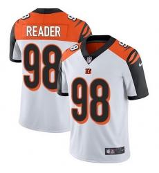 Nike Bengals 98 D J  Reader White Men Stitched NFL Vapor Untouchable Limited Jersey