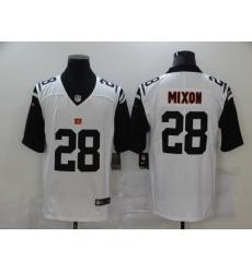 Nike Cincinnati Bengals 28 Joe Mixon White Color Rush Limited Jersey