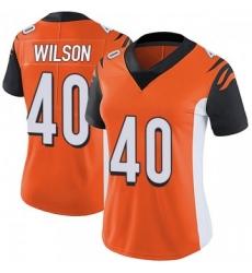 Women Nike Cincinnati Bengals 40 Brandon Wilson Orange Jersey