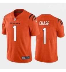 Youth Cincinnati Bengals #1 Ja'Marr Chase Orange 2021 Draft Jersey