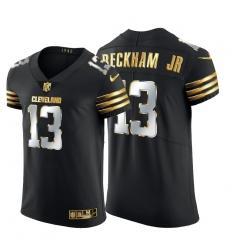 Cleveland Browns 13 Odell Beckham Jr  Men Nike Black Edition Vapor Untouchable Elite NFL Jersey