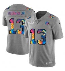 Cleveland Browns 13 Odell Beckham Jr  Men Nike Multi Color 2020 NFL Crucial Catch NFL Jersey Greyheather