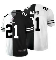 Cleveland Browns 21 Denzel Ward Men Black V White Peace Split Nike Vapor Untouchable Limited NFL Jersey