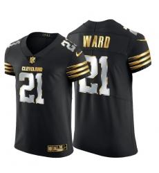 Cleveland Browns 21 Denzel Ward Men Nike Black Edition Vapor Untouchable Elite NFL Jersey