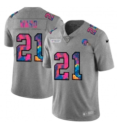 Cleveland Browns 21 Denzel Ward Men Nike Multi Color 2020 NFL Crucial Catch NFL Jersey Greyheather