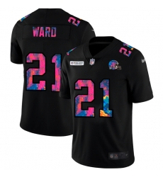 Cleveland Browns 21 Denzel Ward Men Nike Multi Color Black 2020 NFL Crucial Catch Vapor Untouchable Limited Jersey