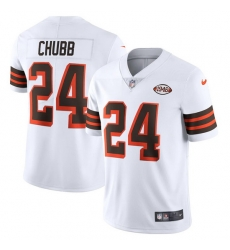 Cleveland Browns 24 Nick Chubb Nike 1946 Collection Alternate Vapor Limited NFL Jersey  White