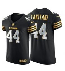 Cleveland Browns 44 Sione Takitaki Men Nike Black Edition Vapor Untouchable Elite NFL Jersey