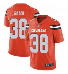 Men Cleveland Browns 38 A.J. Green Orange Vapor Limited Limited Jersey