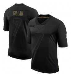 Men Cleveland Browns 7 Jamie Gillan Black Limited 2020 Salute To Service Nike Jersey