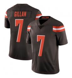 Men Cleveland Browns 7 Jamie Gillan Brown Limited Team Color Vapor Untouchable Nike Jersey