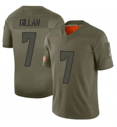 Men Cleveland Browns 7 Jamie Gillan Camo Limited 2019 Salute to Service Nike Jersey