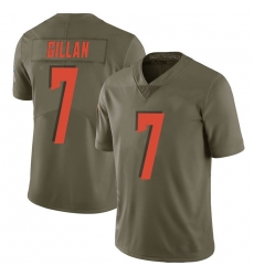 Men Cleveland Browns 7 Jamie Gillan Green Limited 2017 Salute to Service Nike Jersey
