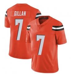 Men Cleveland Browns 7 Jamie Gillan Orange Limited Alternate Vapor Untouchable Nike Jersey