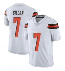 Men Cleveland Browns 7 Jamie Gillan White Limited Vapor Untouchable Nike Jersey