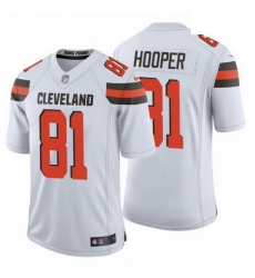 Men Cleveland Browns 81 Austin Hooper NFL Stitched Vapor Untouchable Limited White Nike Jersey