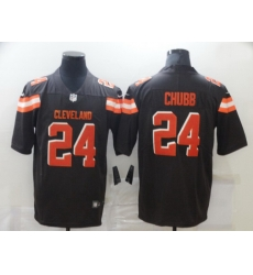 Men Nike Cleveland Browns 24 Nick Chubb Brown Vapor Untouchable Limited Jersey