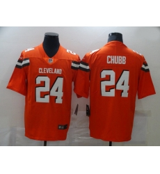 Men Nike Cleveland Browns 24 Nick Chubb Orange Vapor Untouchable Limited Jersey