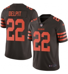 Nike Cleveland Browns 22 Grant Delpit Brown Men Stitched NFL Limited Rush Jersey
