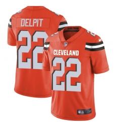 Nike Cleveland Browns 22 Grant Delpit Orange Alternate Men Stitched NFL Vapor Untouchable Limited Jersey