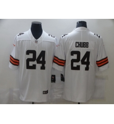 Nike Cleveland Browns 24 Nick Chubb White 2020 New Vapor Untouchable Limited Jersey
