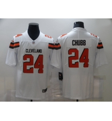 Nike Cleveland Browns 24 Nick Chubb White Vapor Untouchable Limited Jersey