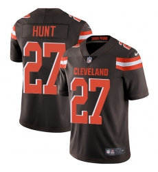 Nike Cleveland Browns 27 Kareem Hunt Brown Team Color Men Stitched NFL Vapor Untouchable Limited Jersey
