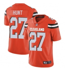 Nike Cleveland Browns 27 Kareem Hunt Orange Alternate Men Stitched NFL Vapor Untouchable Limited Jersey