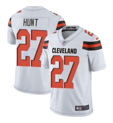 Nike Cleveland Browns 27 Kareem Hunt White Men Stitched NFL Vapor Untouchable Limited Jersey