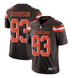 Nike Cleveland Browns 93 B J  Goodson Brown Team Color Men Stitched NFL Vapor Untouchable Limited Jersey
