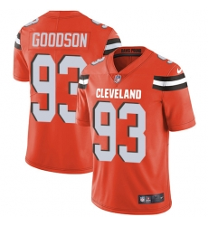 Nike Cleveland Browns 93 B J  Goodson Orange Alternate Men Stitched NFL Vapor Untouchable Limited Jersey