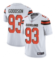 Nike Cleveland Browns 93 B J  Goodson White Men Stitched NFL Vapor Untouchable Limited Jersey