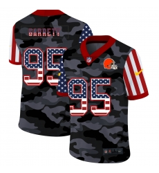 Nike Cleveland Browns 95 Myles Garrett Camo 2020 USA Flag Salute To Service Limited Jersey