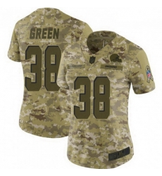 Women Cleveland Browns 38 A.J. Green Brown 2018 Saluto To Service Limited Jersey