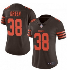 Women Cleveland Browns 38 A.J. Green Brown Rush Limited Limited Jersey