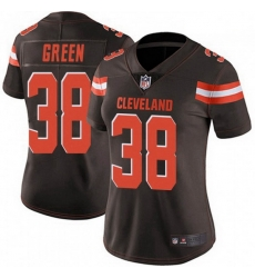 Women Cleveland Browns 38 A.J. Green Brown Vapor Limited Limited Jersey