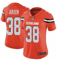 Women Cleveland Browns 38 A.J. Green Orange Vapor Limited Jersey
