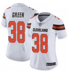 Women Cleveland Browns 38 A.J. Green White Vapor Limited Jersey