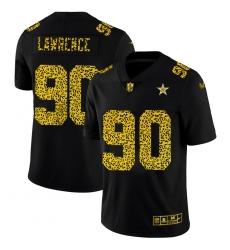 Dallas Cowboys 90 Demarcus Lawrence Men Nike Leopard Print Fashion Vapor Limited NFL Jersey Black