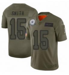 Men Dallas Cowboys 15 Devin Smith Limited Camo 2019 Salute to Service Football Jersey