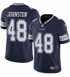 Men Dallas Cowboys Daryl Johnston 84 Nike Vapor Navy Blue Limited Jersey