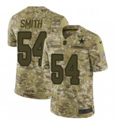 Mens Nike Dallas Cowboys 54 Jaylon Smith Limited Camo 2018 Salute to Service NFL Jersey