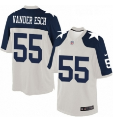 Mens Nike Dallas Cowboys 55 Leighton Vander Esch Limited White Throwback Alternate NFL Jersey