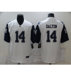 Nike Dallas Cowboys 14 Andy Dalton White Color Rush Limited Jersey