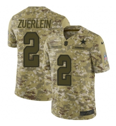 Nike Dallas Cowboys 2 Greg Zuerlein Camo Men Stitched NFL Limited 2018 Salute To Service Jersey