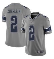 Nike Dallas Cowboys 2 Greg Zuerlein Gray Men Stitched NFL Limited Inverted Legend Jersey