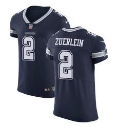 Nike Dallas Cowboys 2 Greg Zuerlein Navy Blue Team Color Men Stitched NFL Vapor Untouchable Elite Jersey
