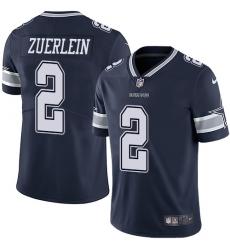 Nike Dallas Cowboys 2 Greg Zuerlein Navy Blue Team Color Men Stitched NFL Vapor Untouchable Limited Jersey